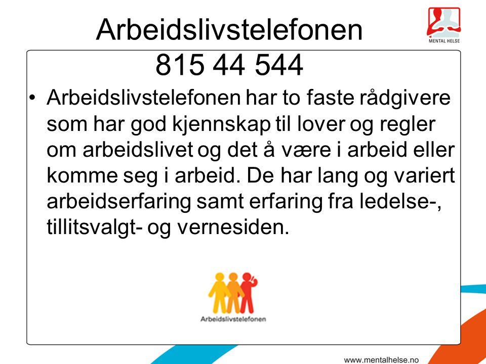 Arbeidslivstelefonen 815 44 544
