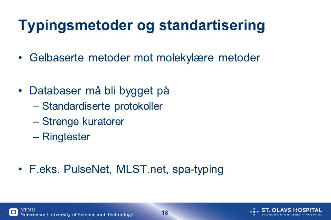 Typingsmetoder og standartisering