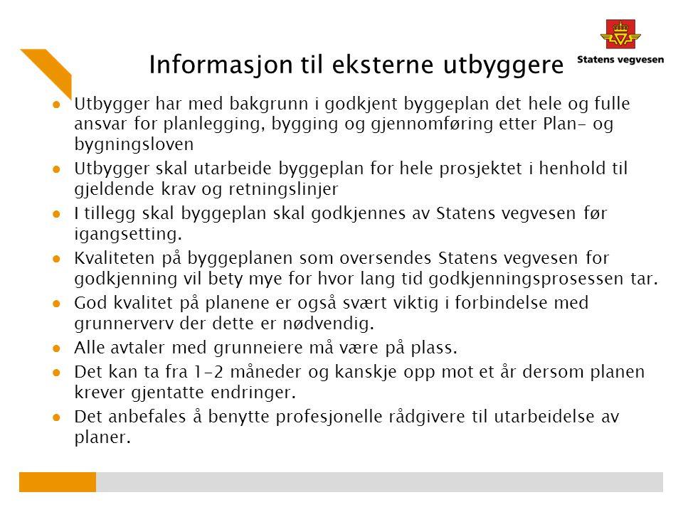 Informasjon til eksterne utbyggere