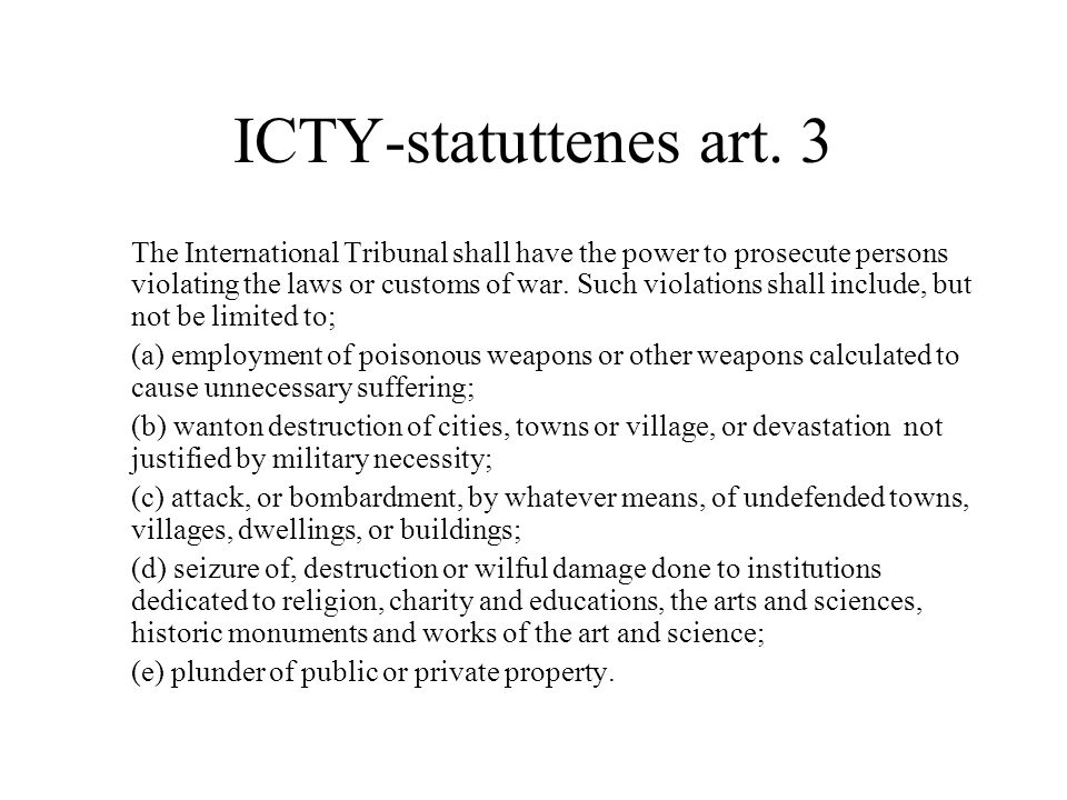 ICTY-statuttenes art. 3