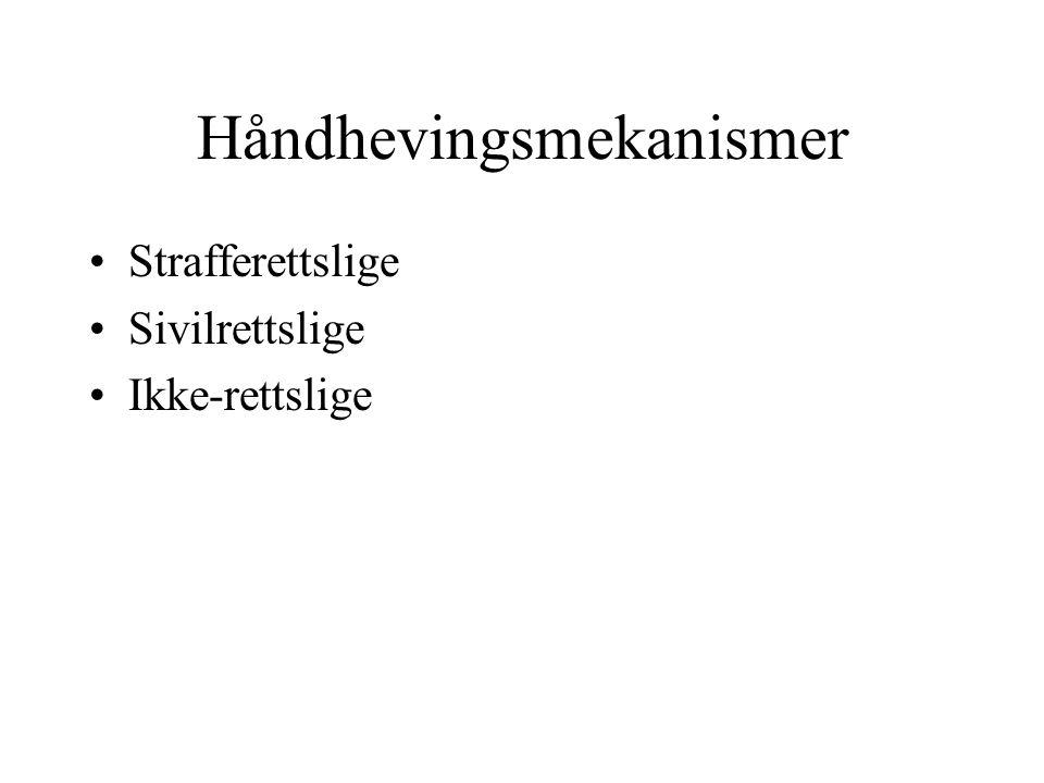Håndhevingsmekanismer