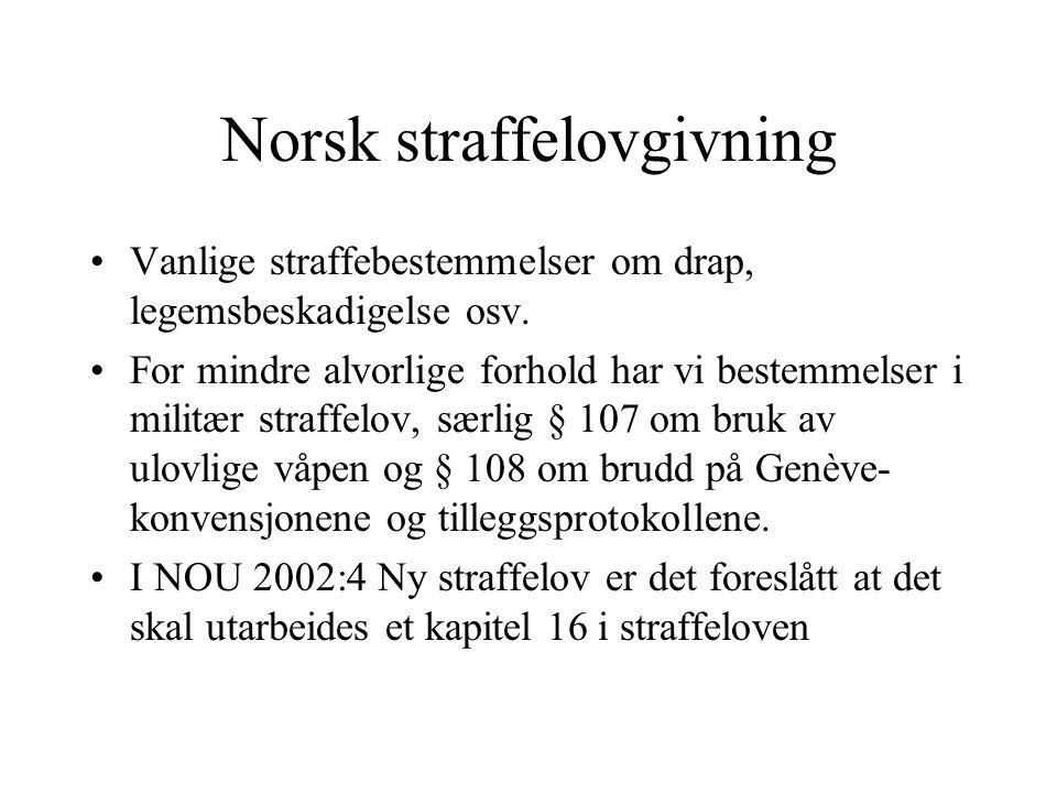 Norsk straffelovgivning