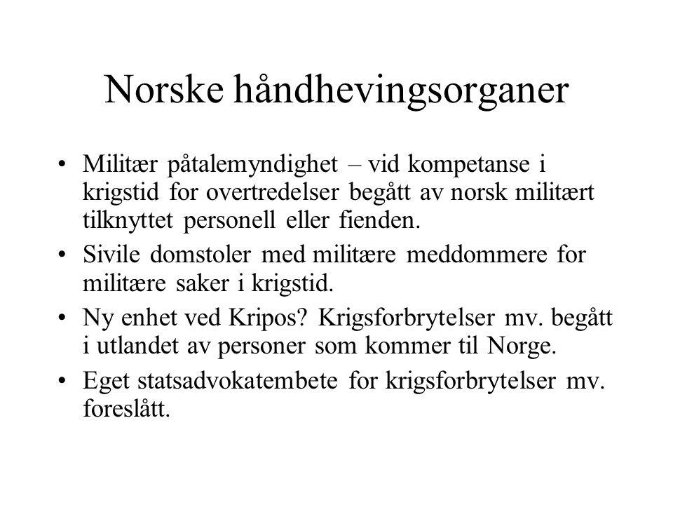 Norske håndhevingsorganer