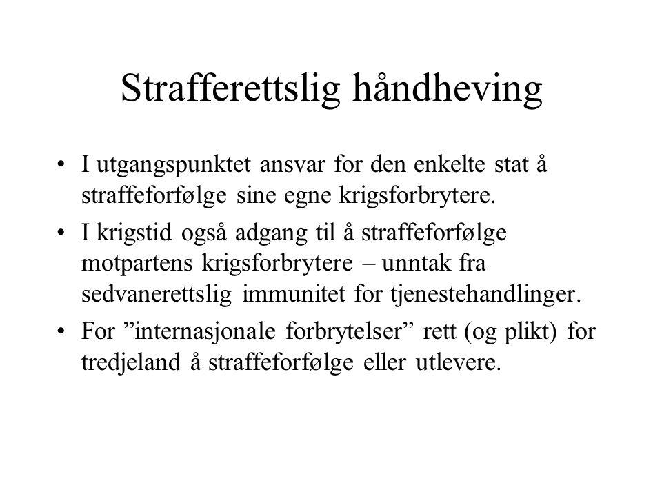 Strafferettslig håndheving