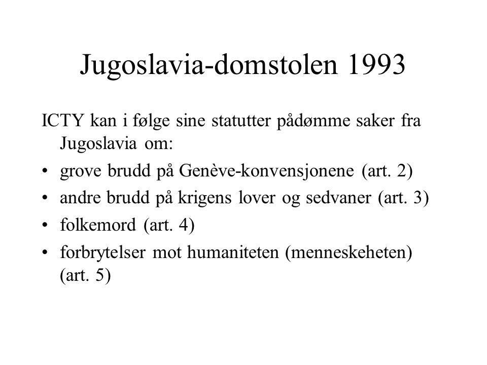 Jugoslavia-domstolen 1993