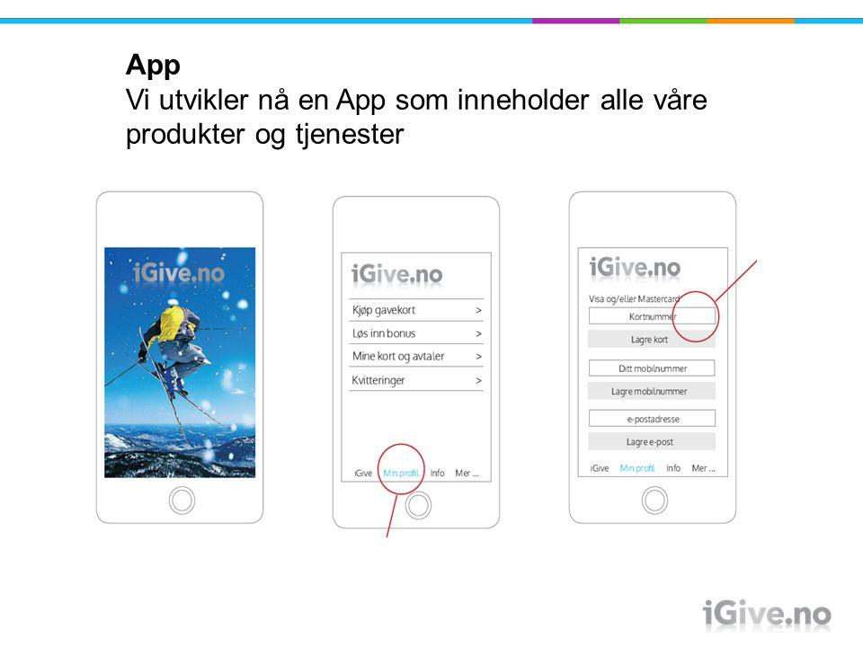 App. Vi utvikler nå en App som inneholder alle våre