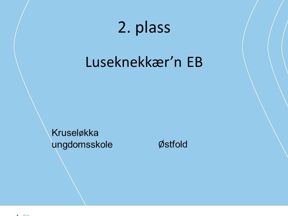 2. plass Luseknekkær'n EB Kruseløkka ungdomsskole Østfold