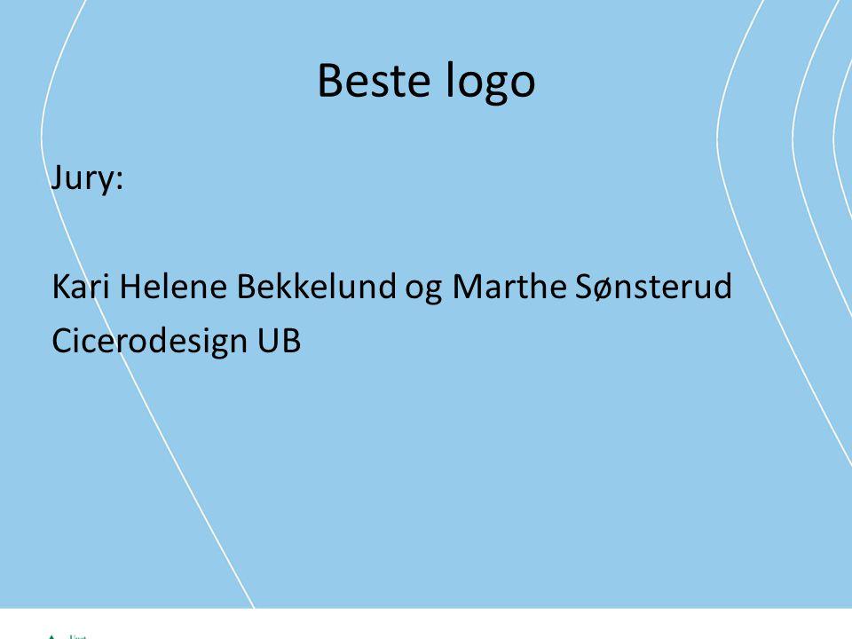 Beste logo Jury: Kari Helene Bekkelund og Marthe Sønsterud Cicerodesign UB