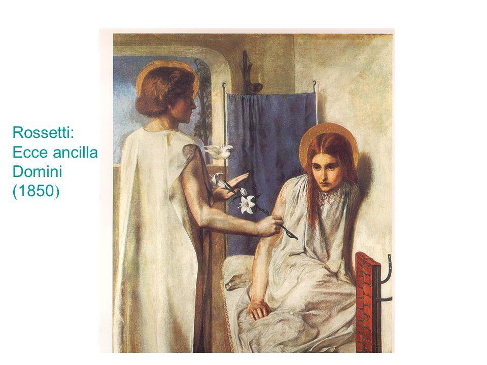 Rossetti: Ecce ancilla Domini (1850)