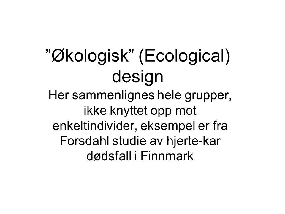 Økologisk (Ecological) design