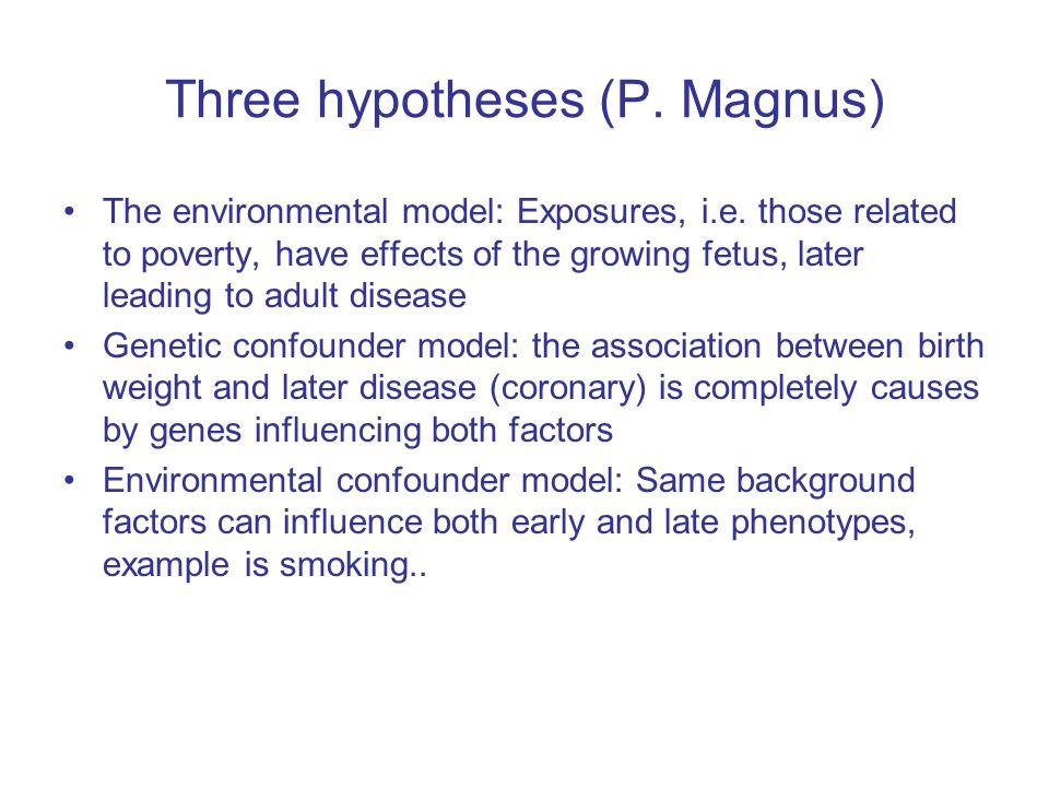 Three hypotheses (P. Magnus)