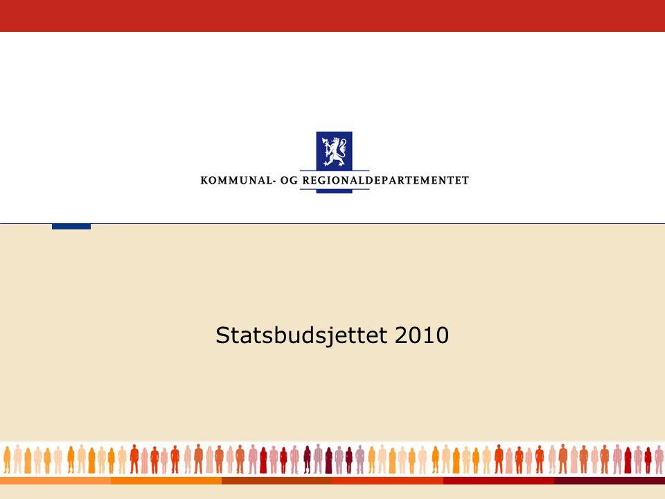 Statsbudsjettet 2010 Hovedforedrag Forside