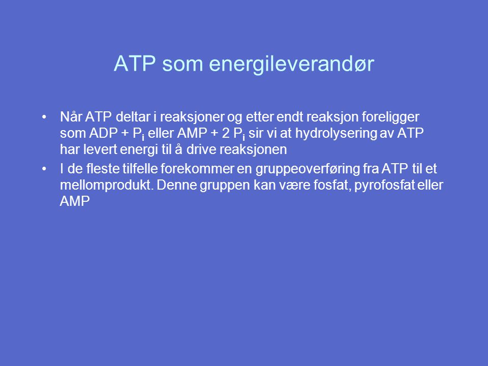 ATP som energileverandør