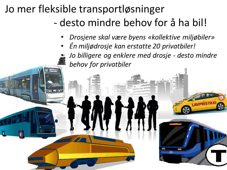 Jo mer fleksible transportløsninger - desto mindre behov for å ha bil!
