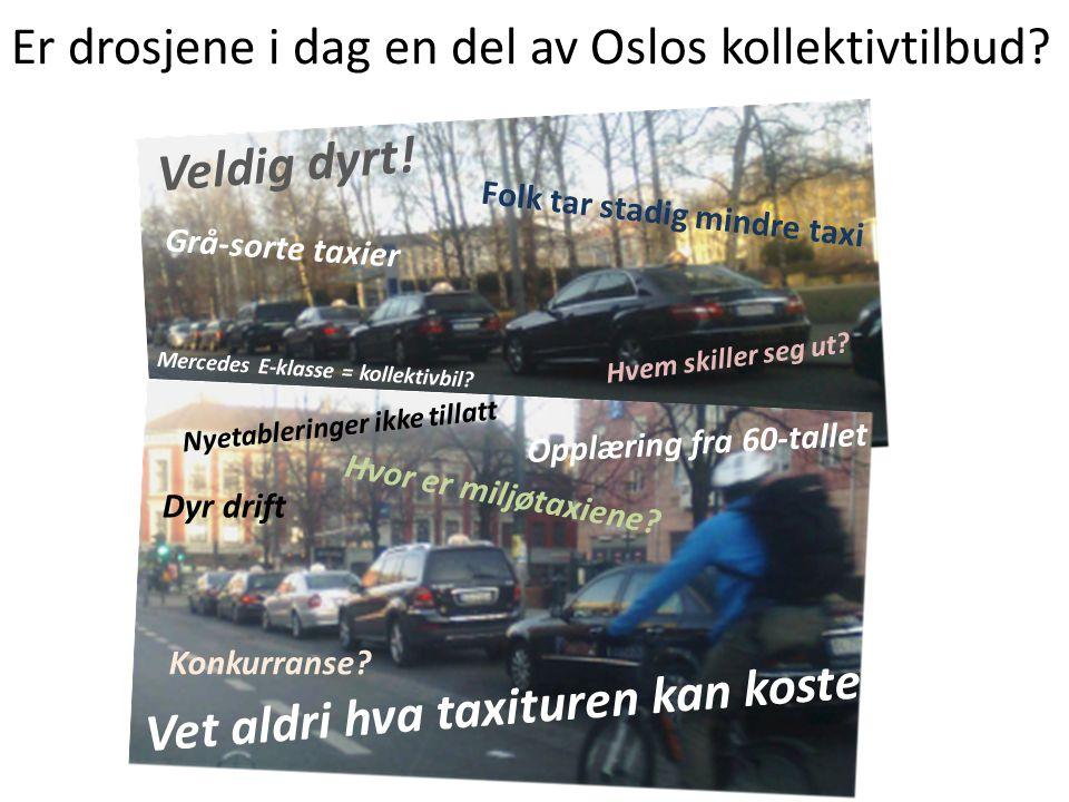Er drosjene i dag en del av Oslos kollektivtilbud