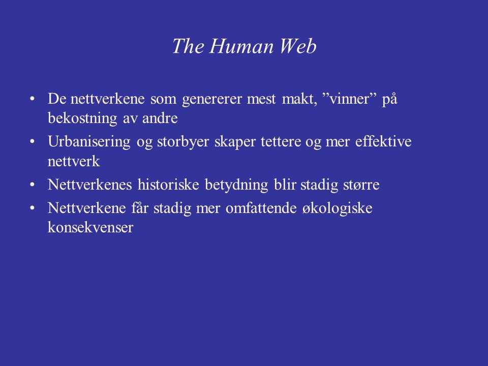 The Human Web De nettverkene som genererer mest makt, vinner på bekostning av andre.