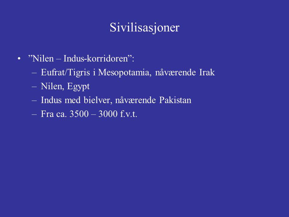 Sivilisasjoner Nilen – Indus-korridoren :