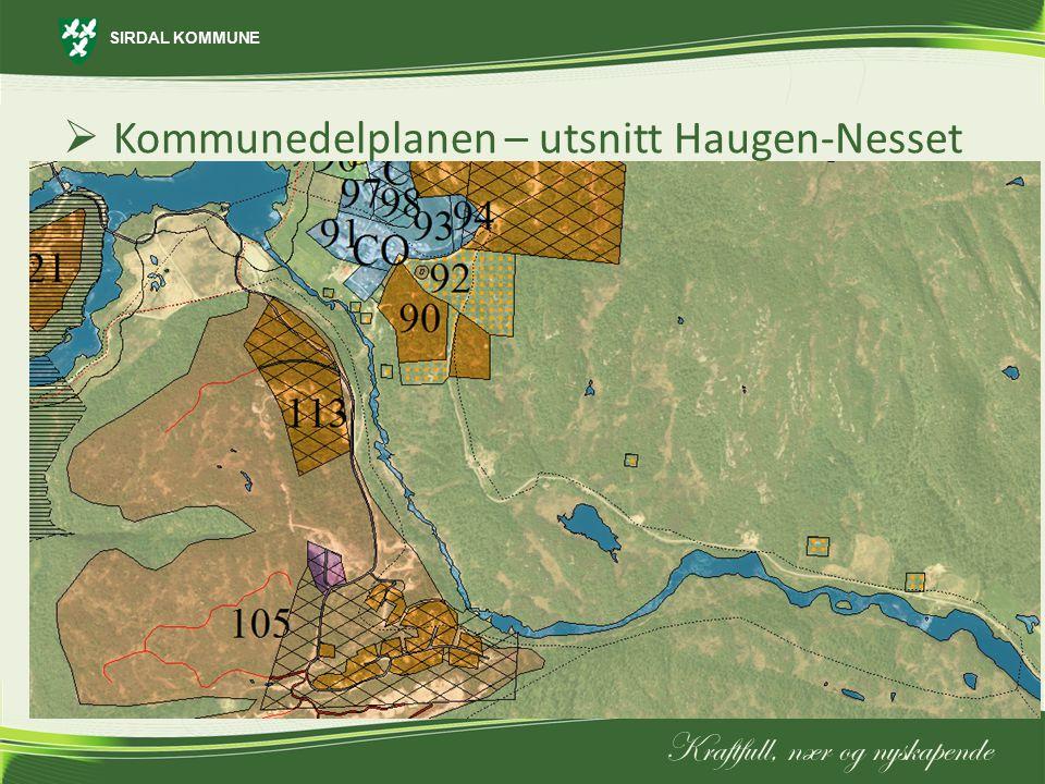 Kommunedelplanen – utsnitt Haugen-Nesset