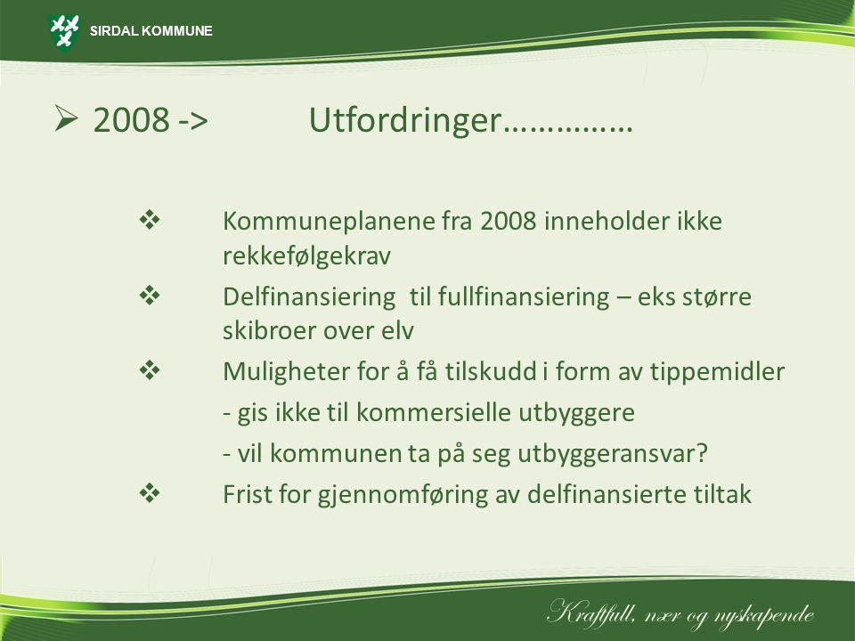 2008 -> Utfordringer……………