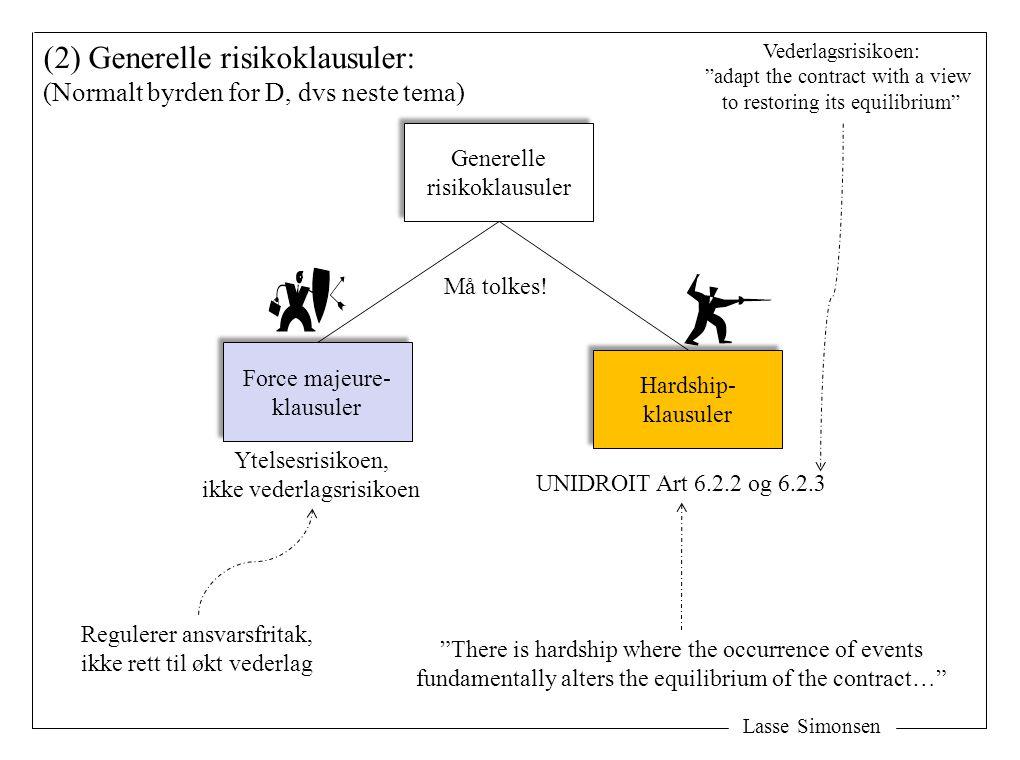 (2) Generelle risikoklausuler:
