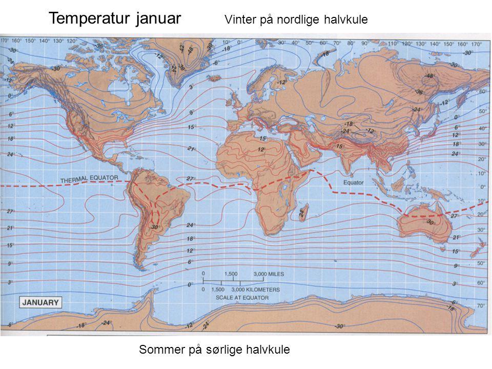 Temperatur januar Vinter på nordlige halvkule