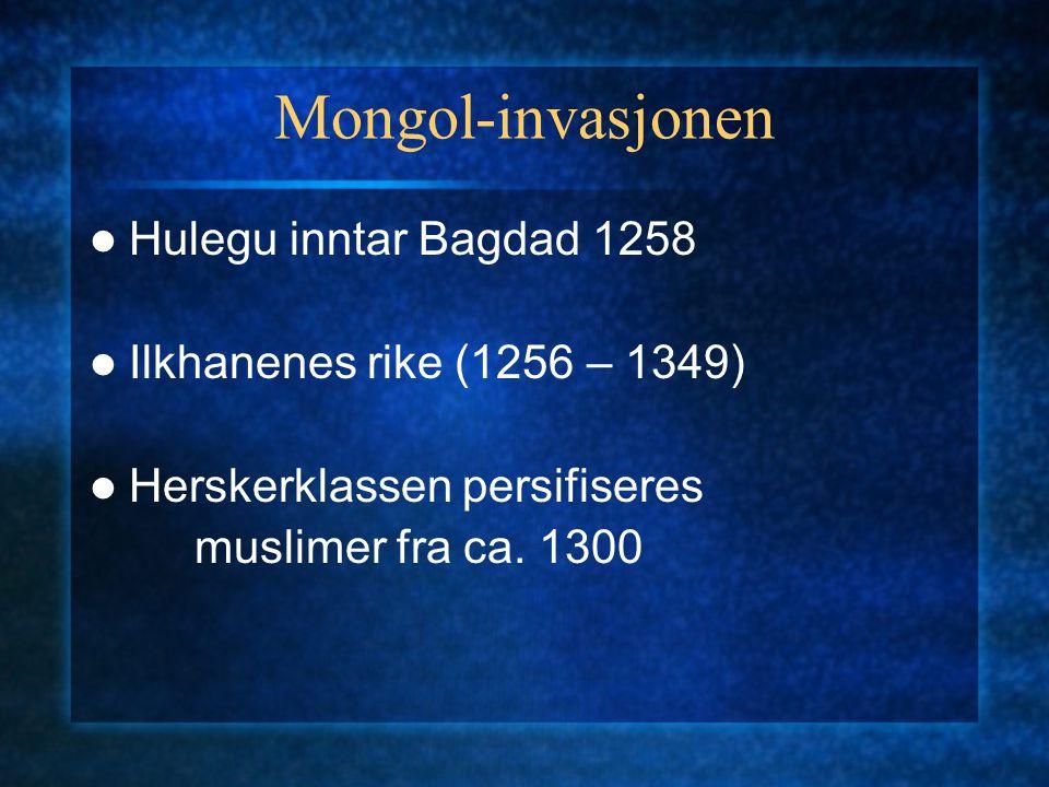 Mongol-invasjonen Hulegu inntar Bagdad 1258