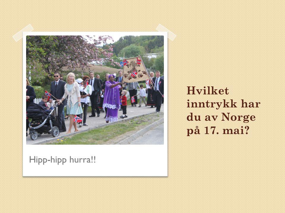 Hvilket inntrykk har du av Norge på 17. mai