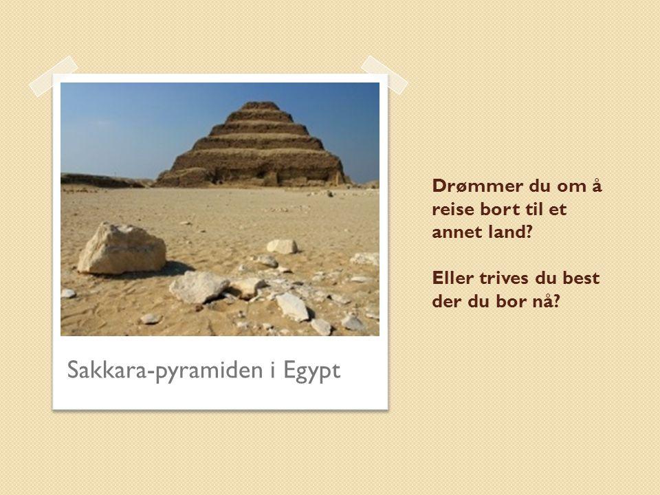 Sakkara-pyramiden i Egypt