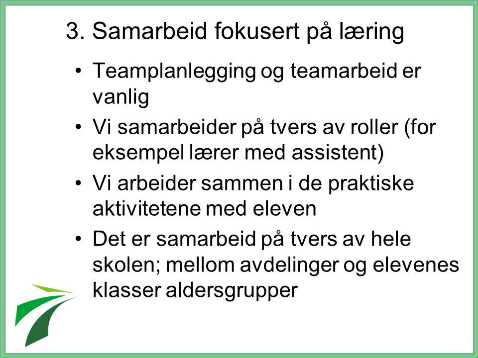 3. Samarbeid fokusert på læring
