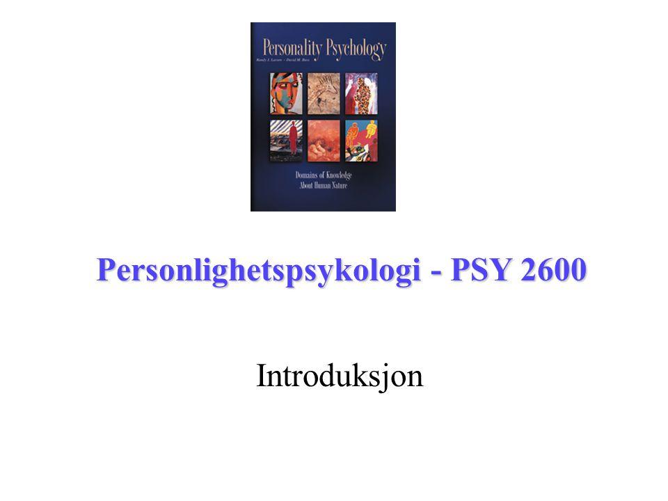 Personlighetspsykologi - PSY 2600