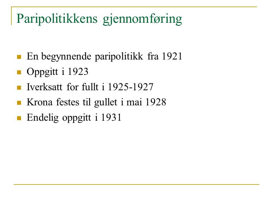 Paripolitikkens gjennomføring