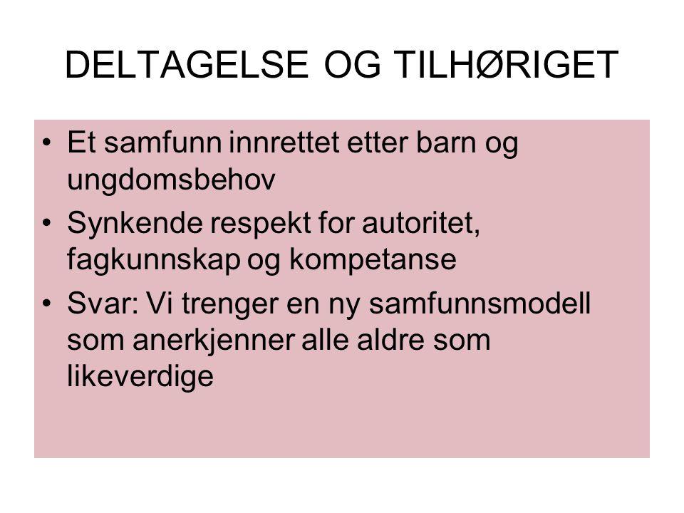 DELTAGELSE OG TILHØRIGET