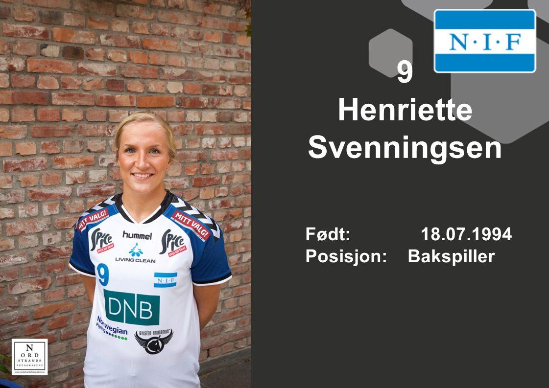 9 Henriette Svenningsen