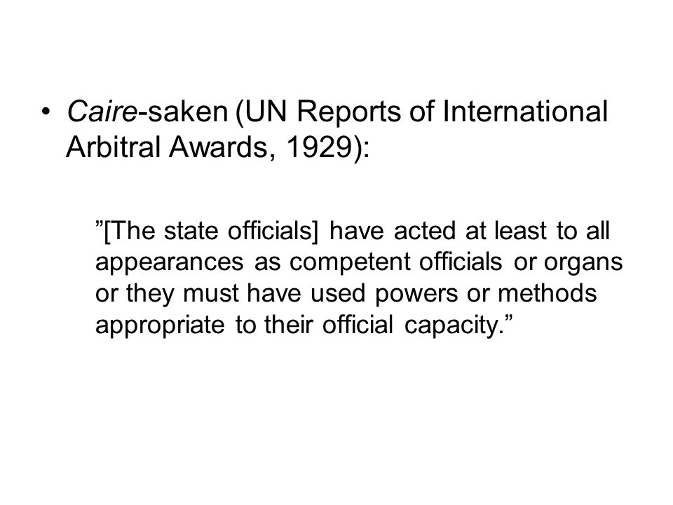 Caire-saken (UN Reports of International Arbitral Awards, 1929):