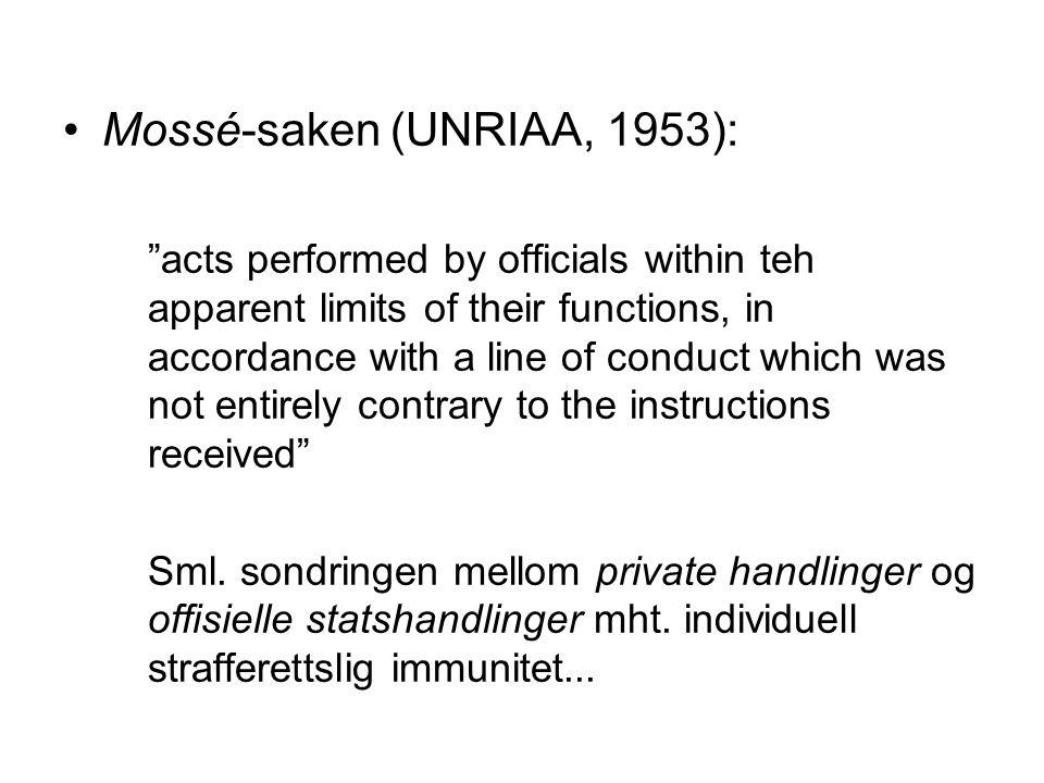 Mossé-saken (UNRIAA, 1953):