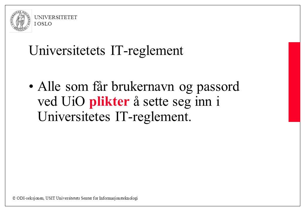 Universitetets IT-reglement