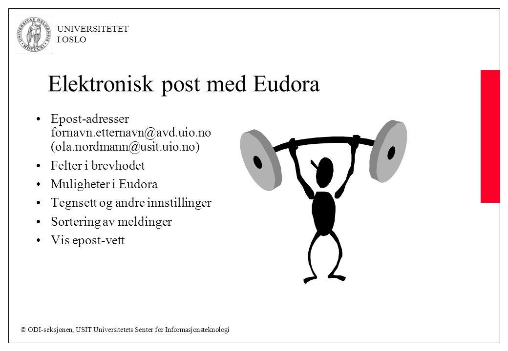 Elektronisk post med Eudora