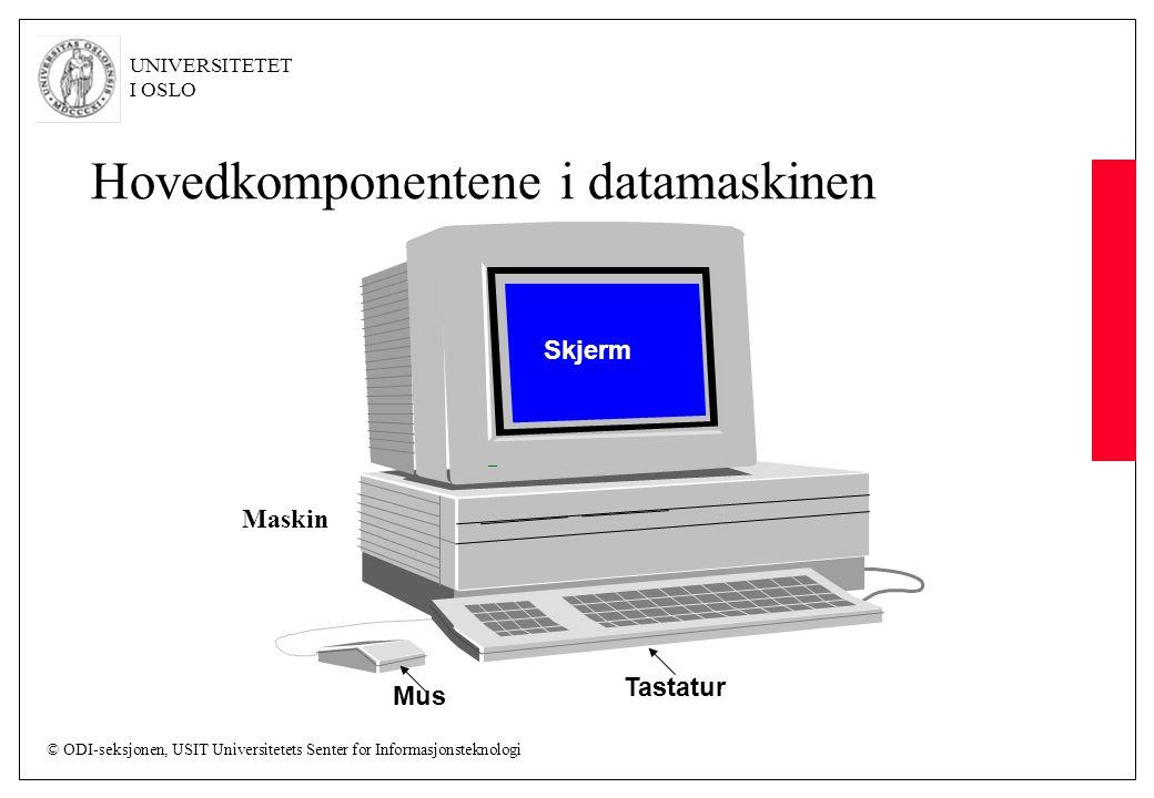 Hovedkomponentene i datamaskinen