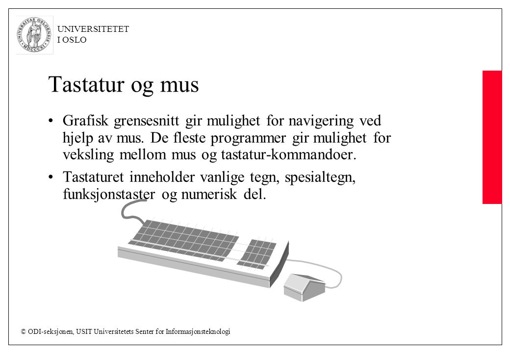 Tastatur og mus