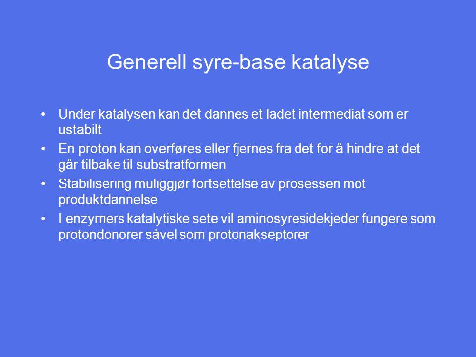 Generell syre-base katalyse
