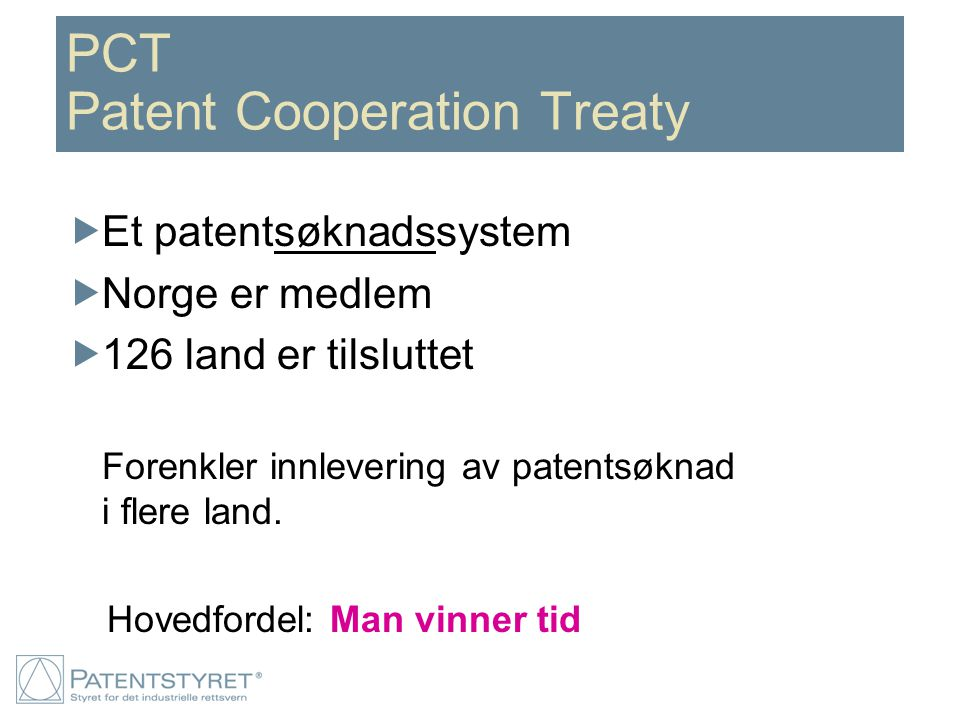 PCT Patent Cooperation Treaty