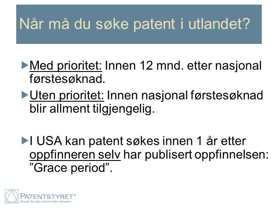 Når må du søke patent i utlandet