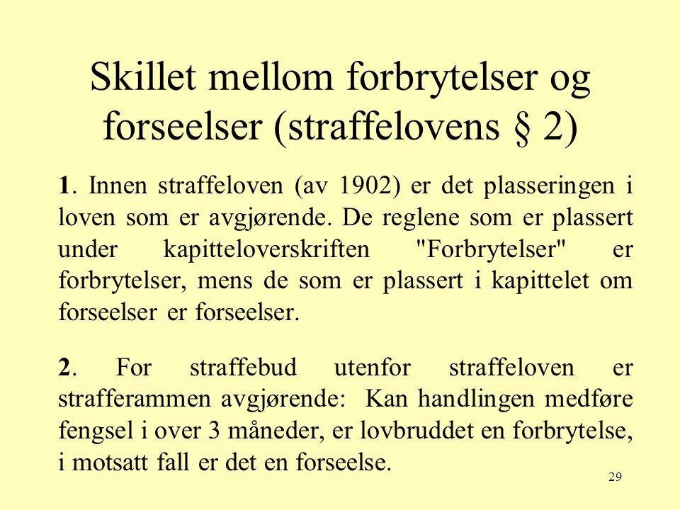 Skillet mellom forbrytelser og forseelser (straffelovens § 2)