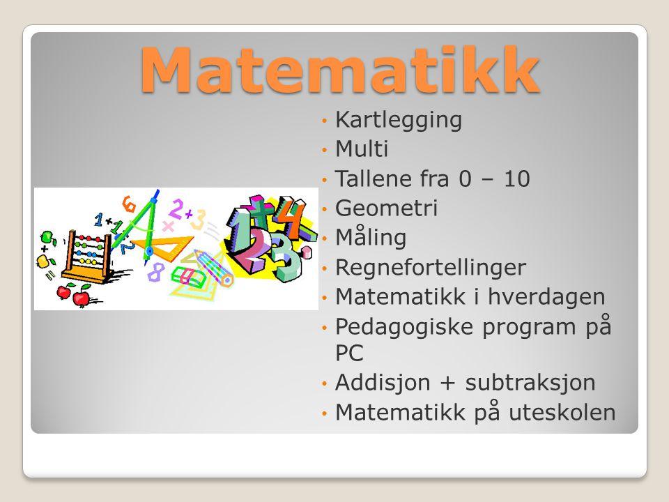 Matematikk Kartlegging Multi Tallene fra 0 – 10 Geometri Måling