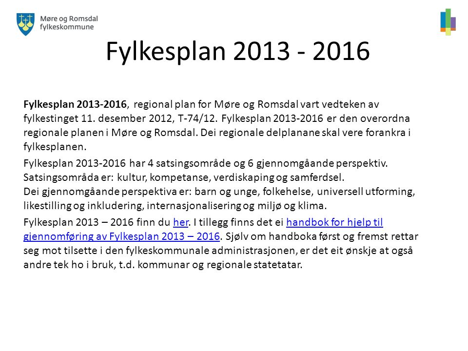 Fylkesplan 2013 - 2016