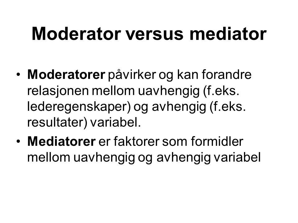 Moderator versus mediator