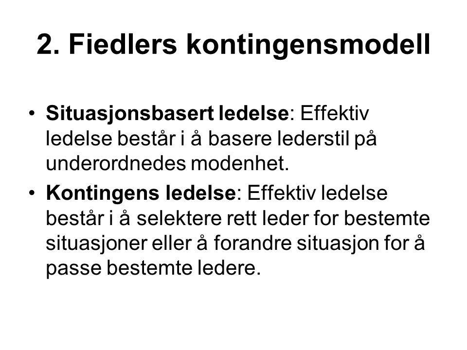 2. Fiedlers kontingensmodell