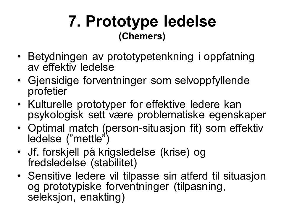 7. Prototype ledelse (Chemers)