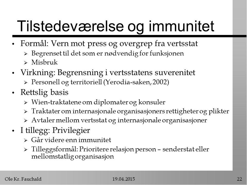 Tilstedeværelse og immunitet