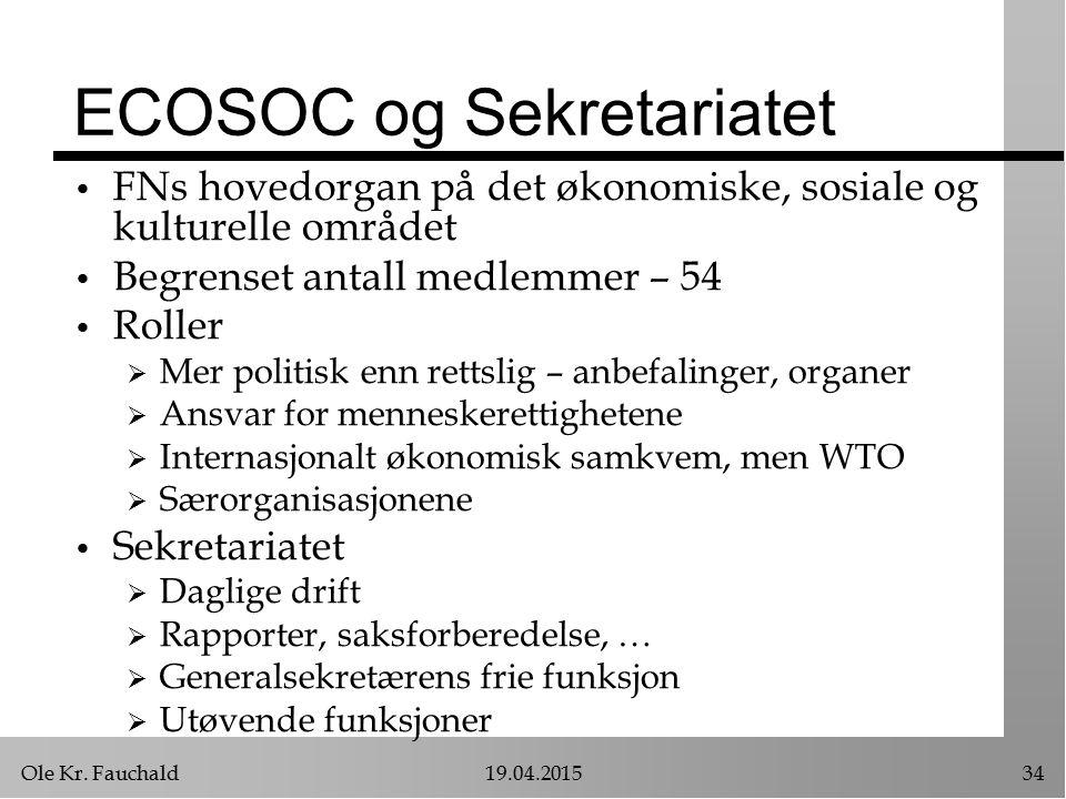 ECOSOC og Sekretariatet